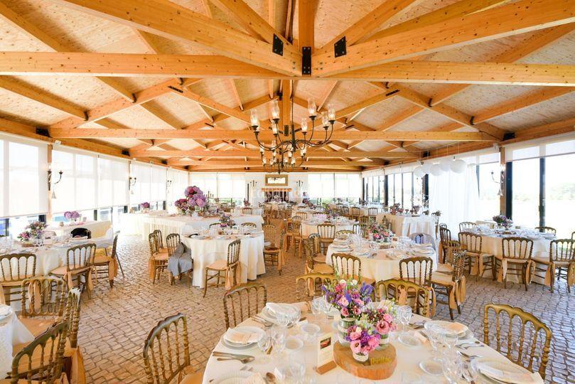 Sala principal em madeira