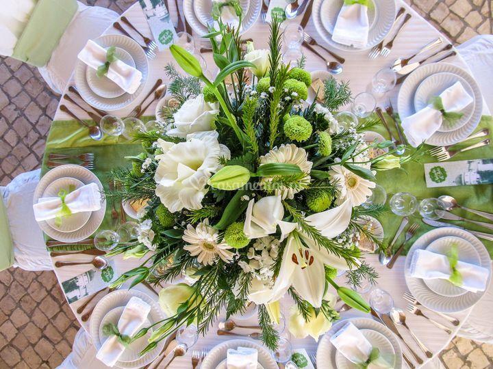 Centros de mesa em flores
