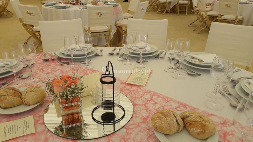 Centro mesa ideal para a noite