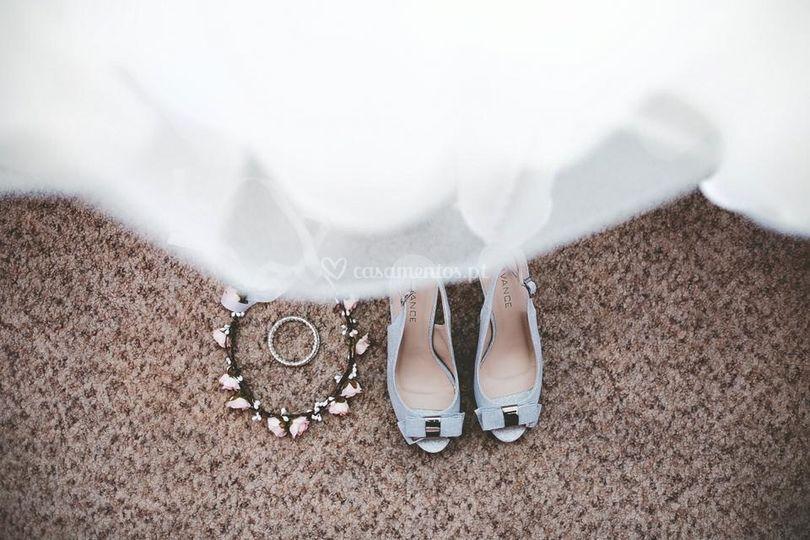 Detalhe vestido de tule