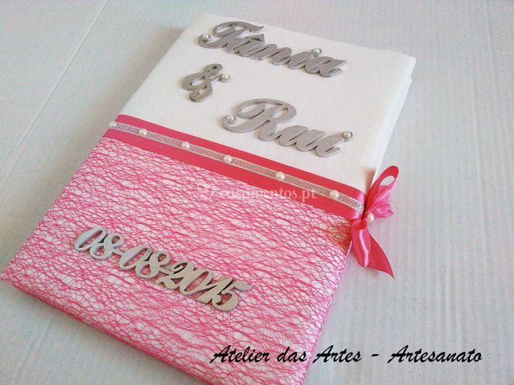 Livro mensagens aos noivos