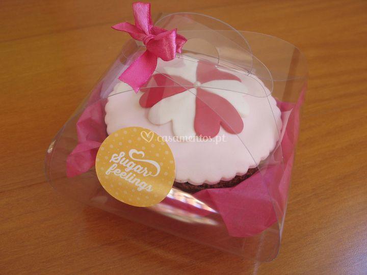 Caixa com cupcakes