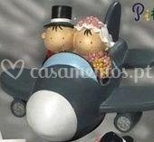 Noivos de avião   19 cm