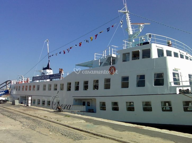 Lateral do navio