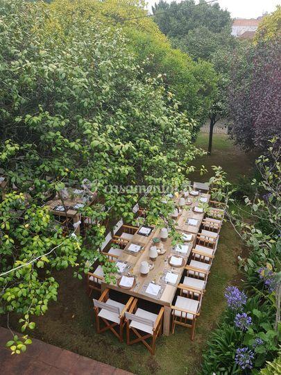 Jantar no jardim