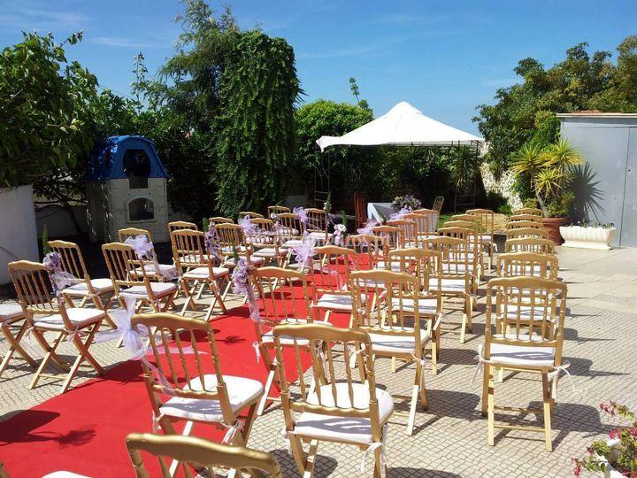 Jardim para casamento civil