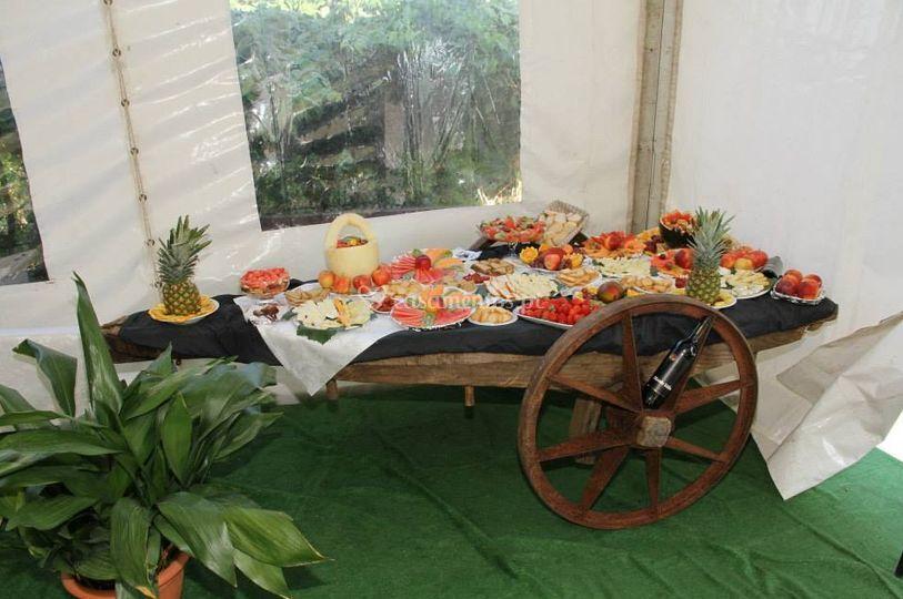 Detalhes da decoração do buffet