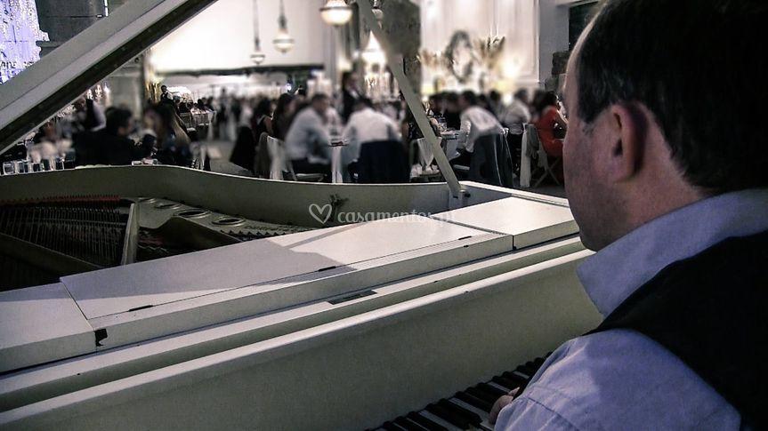 O pianista em acção