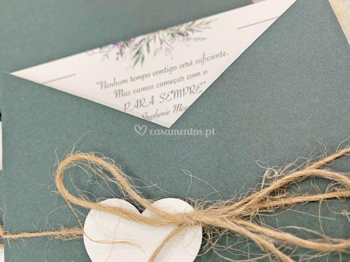 Convite casamento moderno