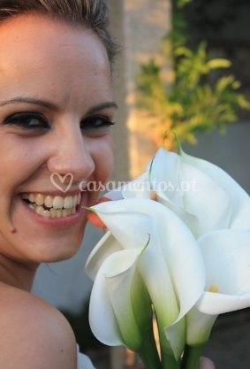 Makeup combinando com a flor