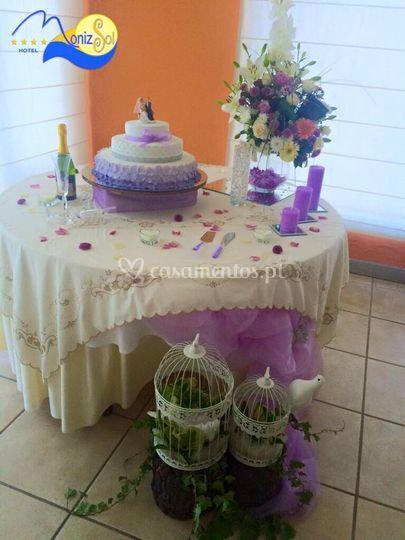 Decoração em lilas