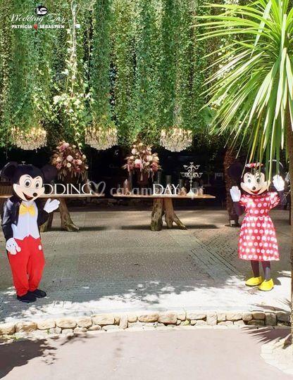 Recepção - Minnie & Mickey