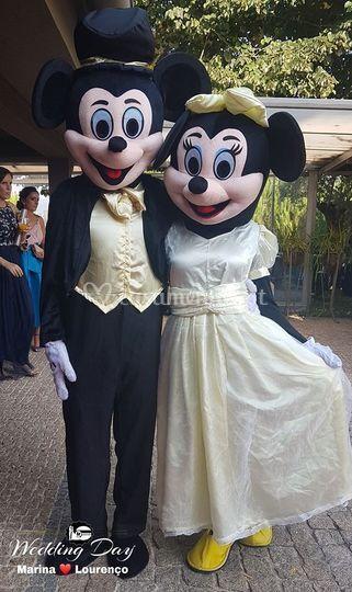 Minnie & mickey wedding dress