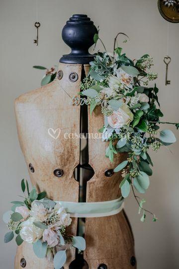 Faixa & echarpe floral
