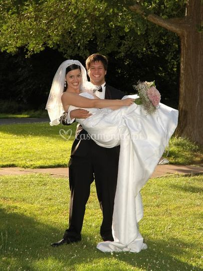A noiva ao colo