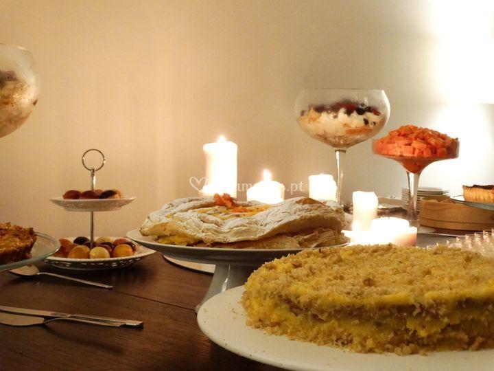Pormenor buffet de sobremesas
