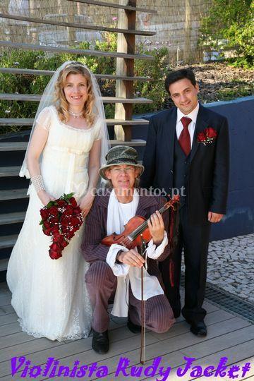 Fotografia com os noivos
