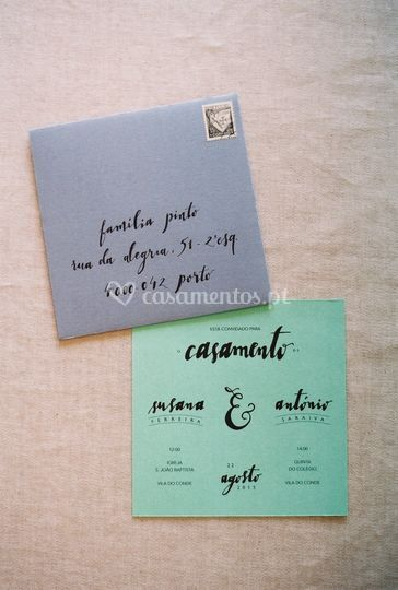 Conjunto II - Convite+envelope