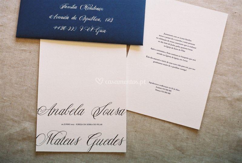 Conjunto I - Convite+envelope
