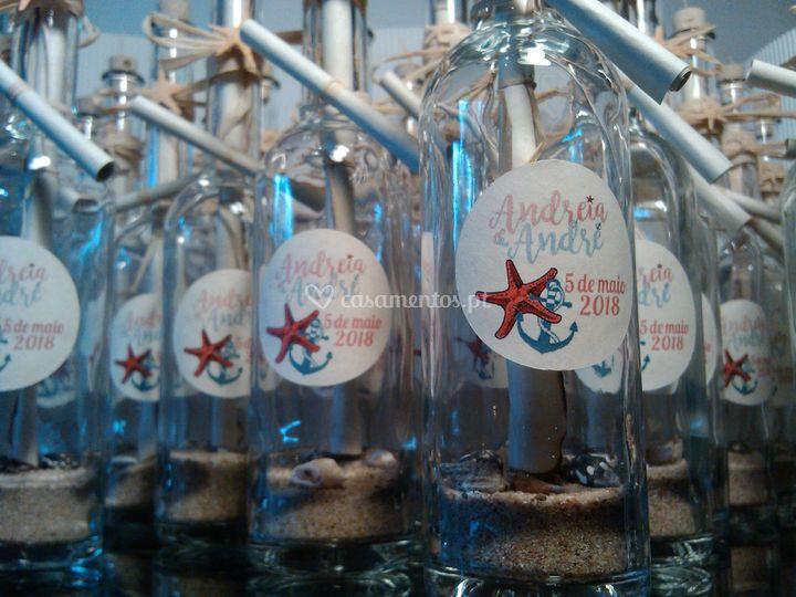 Convites messages in bottles