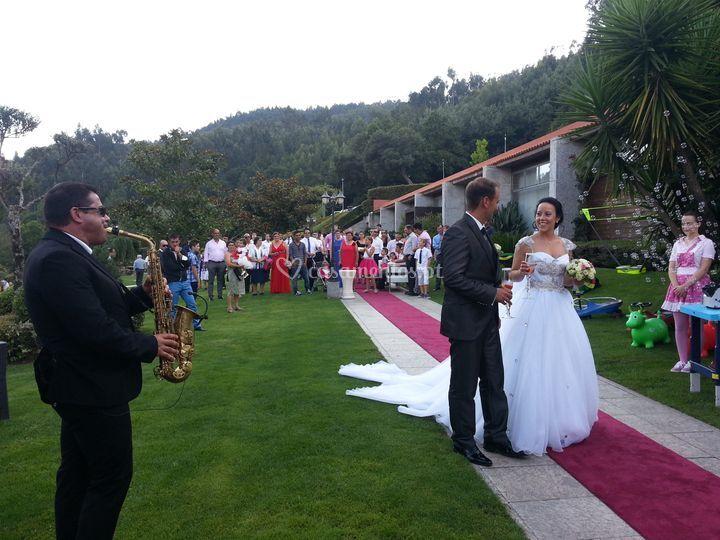 A receber os noivos na quinta