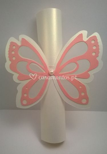 Convite butterfly scroll