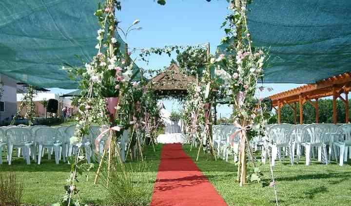Caminho para os noivos
