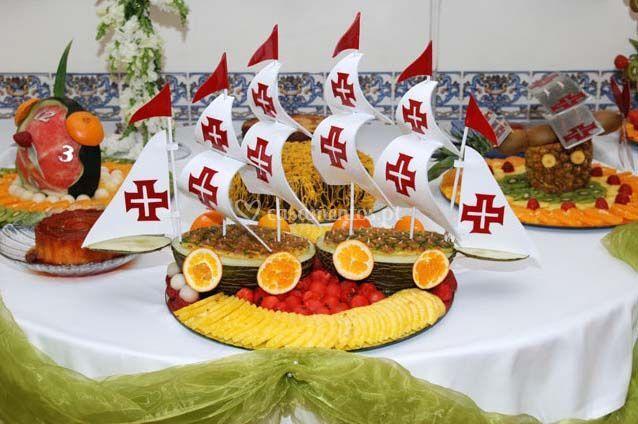 Barco de frutas
