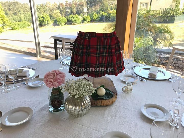 Tema do casamento Escócia