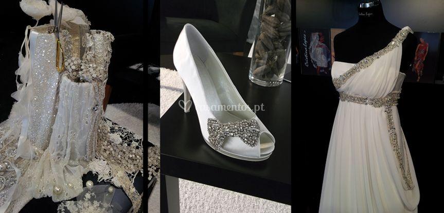 Sapato e vestido império