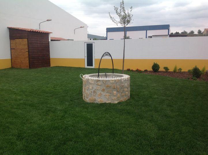 Jardim traseiro