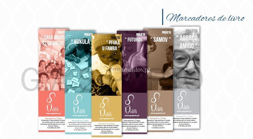 Marcadores - Lembrança de Grupo de Acção Social do Porto
