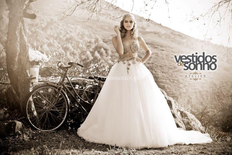 Vestido de Noiva Transperancia