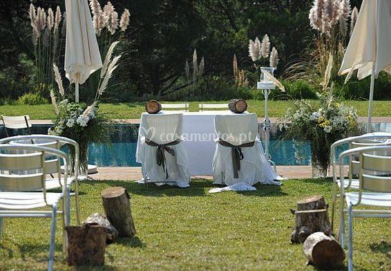 Belo casamento assembly