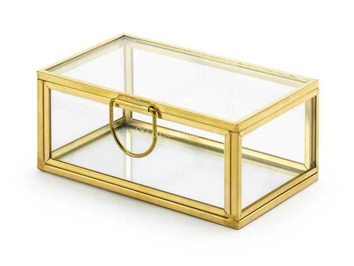 Caixa de vidro porta-alianças