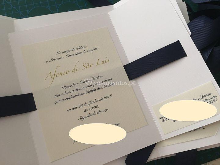 Convite de primeira comunhão