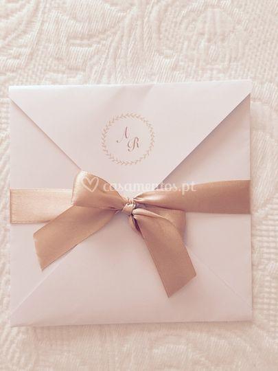 Convite elegante a&r