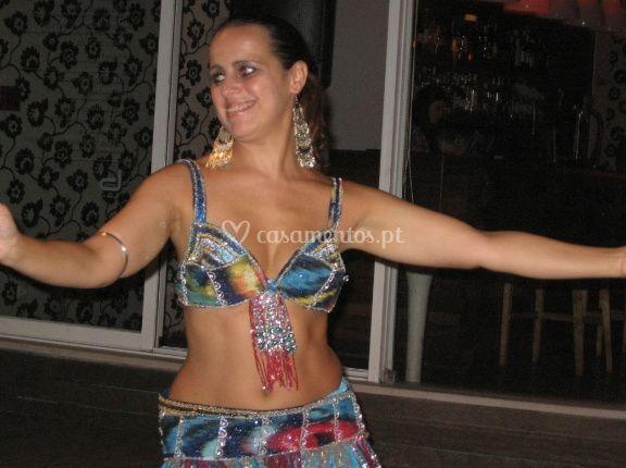 Dançarina em apresentação