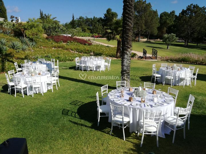 Wedding garden area