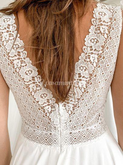 Vestido noiva fluído