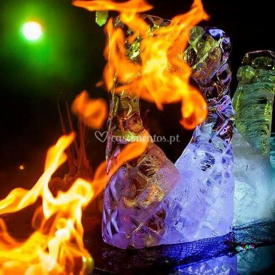 Esculturas de gelo