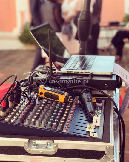 Ceremony sound set up