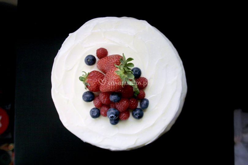 Cream cheese c/ frutos verm.