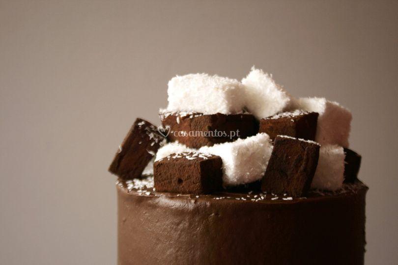 Chocolate e marshmallows