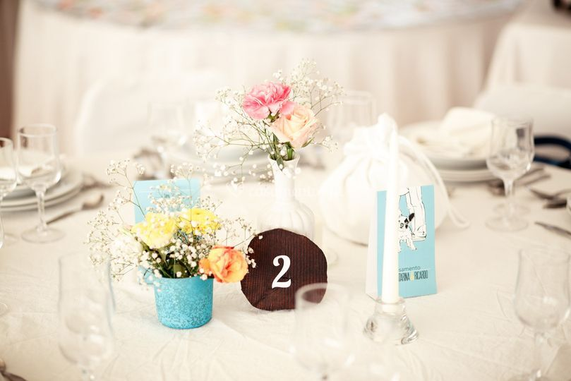 Detalhe mesa decoração