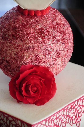 Pormenor bolo de noiva