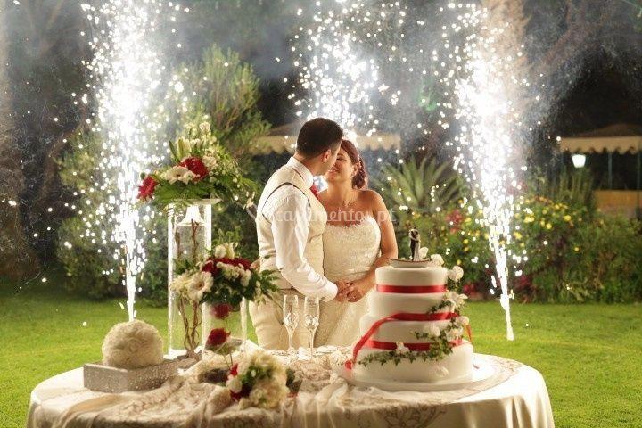 Noivos felizes de Quinta Splendida