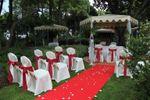 Cerimónia civil nos jardins