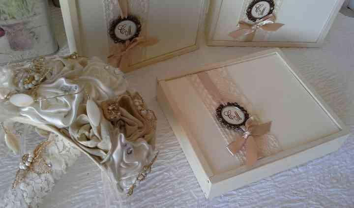 Convite caixa de madeira