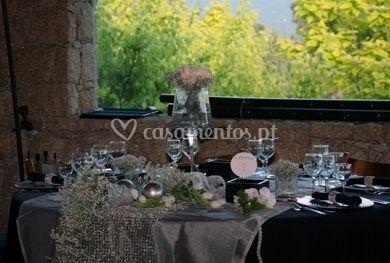 Detalhe da mesa